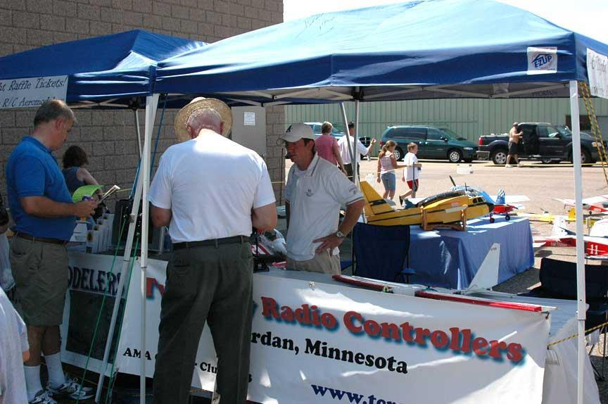 The TCRC booth at the Wings Of The North Air Show attracted a lot of interest.