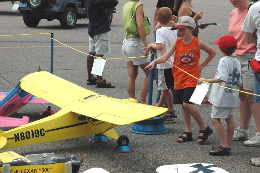 August, 2005 Minneapolis, Minnesota U.S.A. Page 3 Wings Of The North Air Show R/C Airplanes Were A Big Hit With The Kids At The Air Show Continued From Page 1 Chris O Connor, David Klemenhagan, Gary