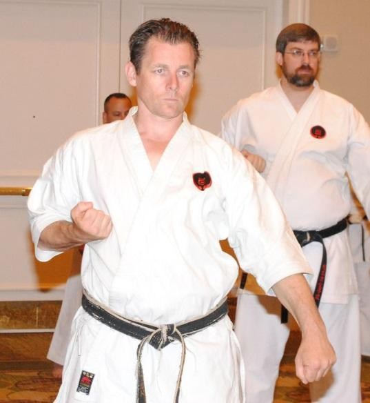 His commitment and deep understanding of Goju-Ryu Karate has been enhanced through the study of other martial arts such as Japanese Sword, Philippine Knife Arts, Thai Kickboxing, and Chinese Wushu.