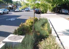 Design Innovations for the Roadside Zone Detached sidewalks that provide a planting strip between the sidewalk and roadway provides additional separation from moving
