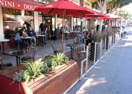Design Innovations for the Parking Zone Parklets are typically two or three successive parking spaces converted into a miniature urban park or seating area.