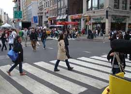 Design Innovations for the Intersections Zone A pedestrian scramble phase is a pedestrian crossing system that stops all vehicular traffic and allows pedestrians to cross an intersection in every