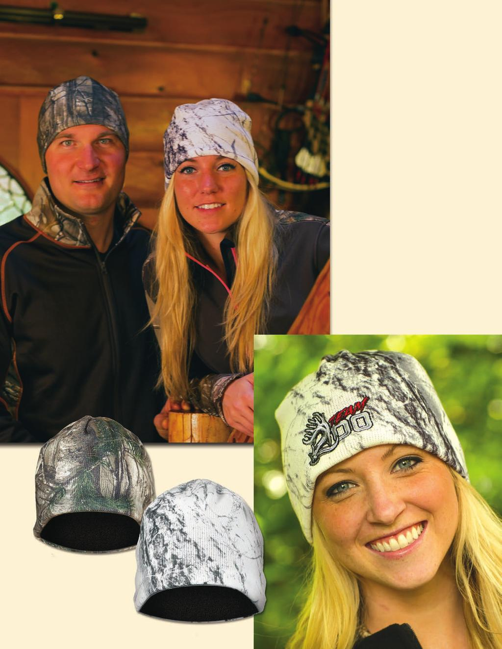 CAMO SKULL CAP Fleece-Lined Knit Skull Cap Take the chill off with this great-fitting skull cap.