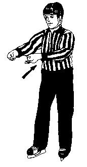SECTION 4 TYPES OF PENALTIES 30.15 Holding Clasping either wrist with the other hand in front of the chest. 30.16 Holding the Stick Two stage signal involving the holding signal (30.