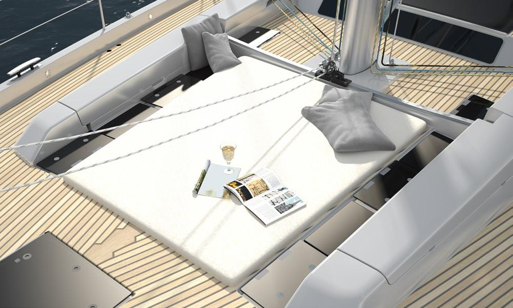 Sailing is all about relaxation, so we have kept a spacious area clear for those wanting to soak up the