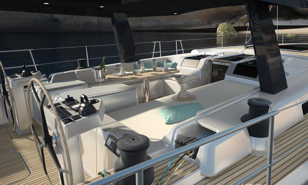 One of the most important goals in boat design is to provide sailors perfectly with light and shade on deck.