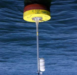 The buoy was designed to have minimal structural components to prevent vessels from tying off to the buoy and to protect instruments from