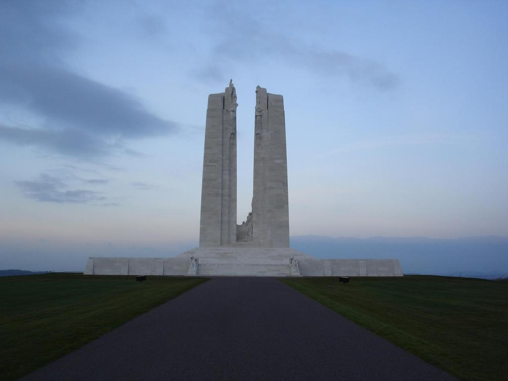 Carved on the walls of the monument are the names of 11,285 Canadian
