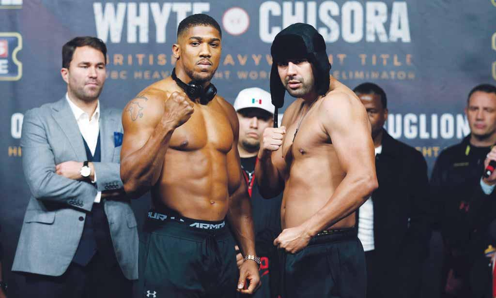 6 Gulf Times SPORT BOXING Joshua eyes Klitschko prize in Molina bout Chisora punished but bout to go ahead I will make Eric look like a novice. It s a breaking-down job.