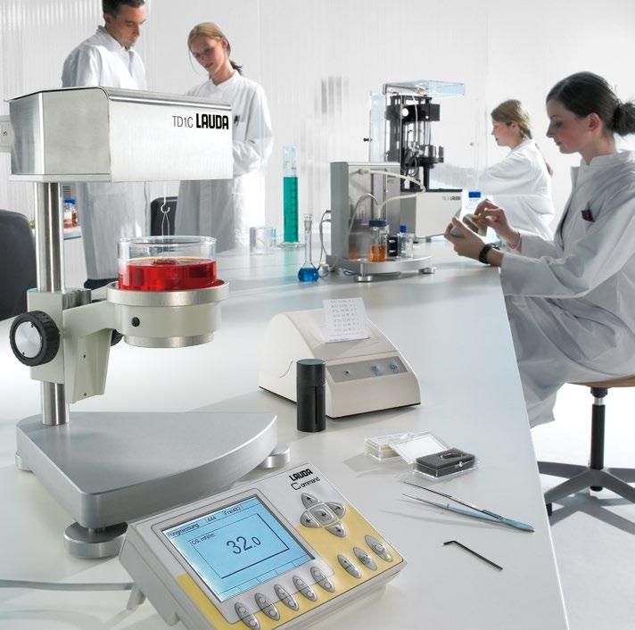 Precise measuring instruments for research and industry Precision, flexibility, and reliability LAUDA Scientific offers proven solutions for measuring surface tension, interfacial tension, and