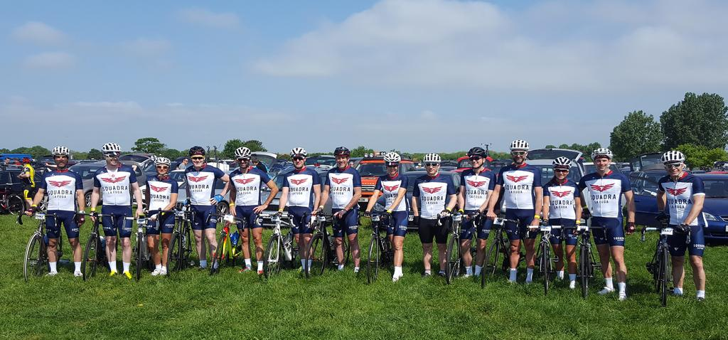 2016 Squadra La Fuga riders at the Granfondo Cambridgeshire