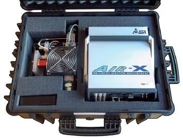 Where to install the AIR-X AND COMPACT AIR-X equipment? AIR-X COMPACT AIR-X is able to sample and evaluate oil from atmospheric or pressurized lines in an operating hydraulic system.
