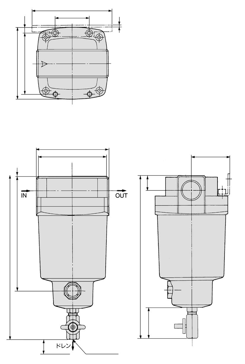 MH Series Dimensions MH850 2 1 2 180 18 180 24 () 3 15 13 2 184 1 Bracket ccessory 42 View B 30 348 2 x port size 11/2, 2 female threaded Drawing of view B 44 41 uto drain