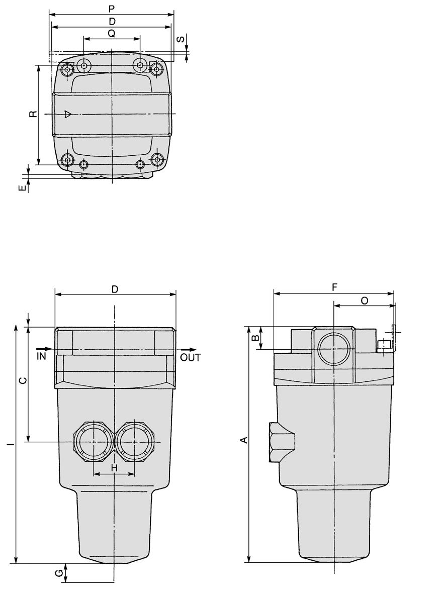 K M ME Series Dimensions ME50/850 Bracket ccessory N L 3 View B J 2 x port size Drawing of view B Maintenance space Model Port size ME50 1, 11 2 21 ME850 1 1 2,