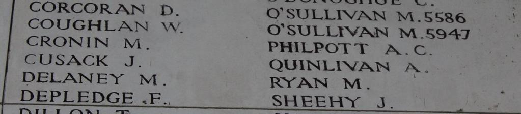Private Alfred Quinlivan Private Alfred Quinlivan Alfred Quinlivan:, Born and lived in Ennis, killed in action 15 th August 1917 age 33, at the Frezenberg Ridge near Passchendaele.