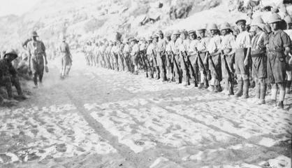 Gallipoli: Krithia May 11th 1915 When the Royal Munster Fusiliers 1st Battalion landed at V Beach on April 25th 1915, they were close to full strength, numbering 26 officers and 900 other ranks.