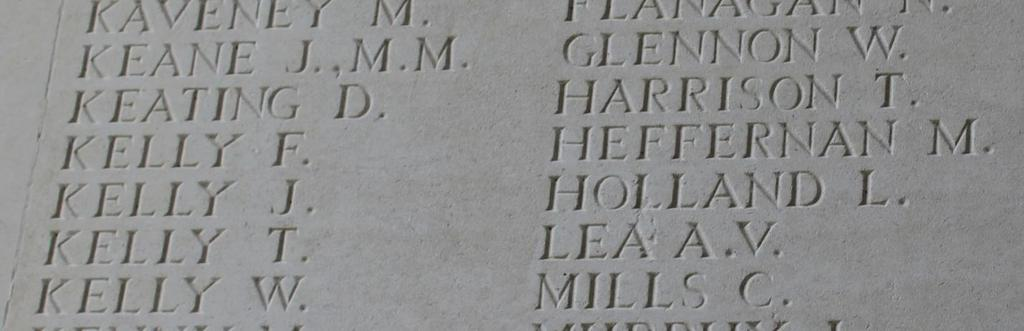 Private Thomas Kelly Private Thomas Kelly Thomas Kelly: Born in Tulla, died 9 th Sept 1916 on the Somme, 1 st Bn. Royal Munster Fusiliers 9373, G/M in Thiepval, France.