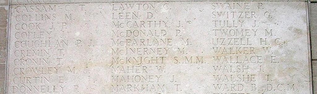 Private Stephen Private McKnight Stephen MM McKnight MM Stephen McKnight: Born and lived in Kilrush, killed in action 22 nd March 1918 at St Emilie, Royal Munster Fusiliers 1 st Bn 3622, G/M in