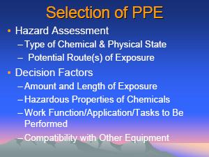 CHEMICAL PROTECTIVE CLOTHING DurabilityCONSIDERATIONS.