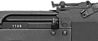) As it moves rapidly forward under spring pressure, the bolt will strip a round from the magazine and insert it into the chamber, readying the rifle for firing. 6.