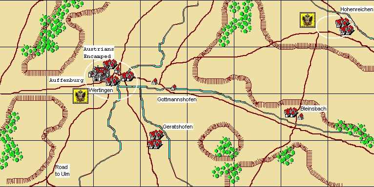 Wertingen 8th October, 1805 Scenario Notes: Austrian player s briefing: Feldmarschall-Leutnant Baron Franz Xavier Auffenberg: After receiving urgent orders from FML Mack to scout for the enemy in the