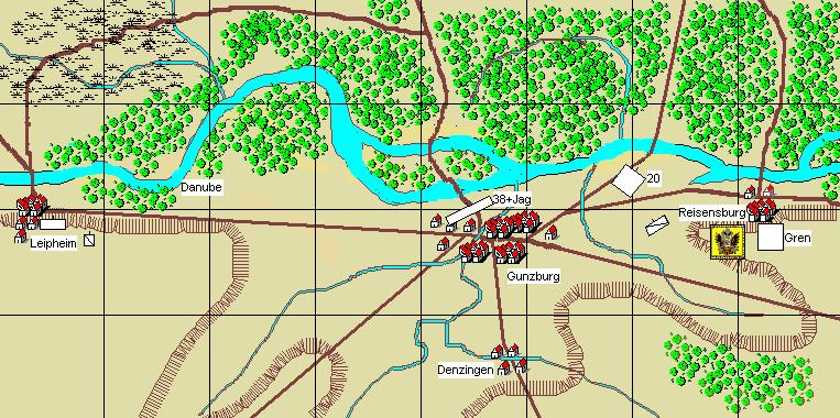 2. Gunzberg, 9th October, 1805 Scenario Notes: Austrian player/s briefing: Feldmarschall-Leutnant D'Aspre: It is Feldmarschall-Leutnant Mack`s plan to use the bridges at Gunzburg in the next couple