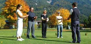 PROGRMS 2015 GOLF TRY-OUT Just for you unique special offer for first timers. 50 minutes golf try-out for 1 or 2 people. Please make an appointment in our office.