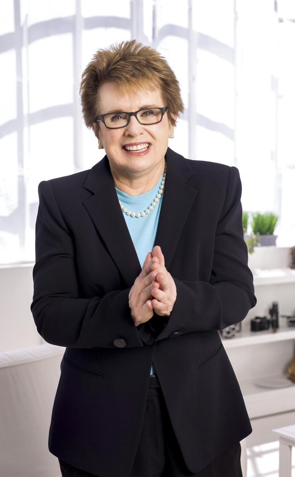 An Icon Billie Jean King is a co-founder and ambassador for Mylan WTT Won 39 Grand Slam singles, doubles and mixed doubles tennis titles, including a record 20 titles at Wimbledon Received the