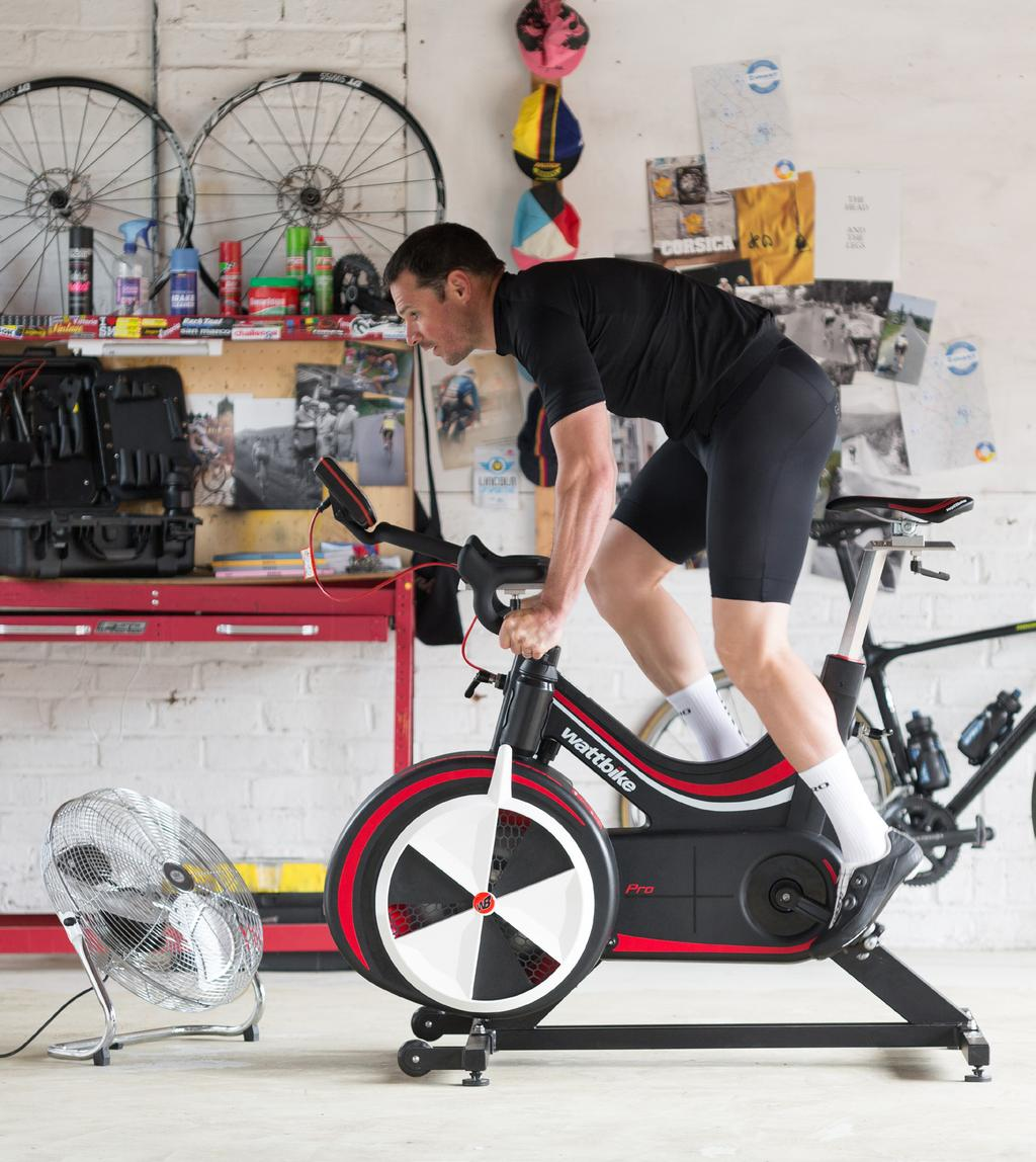RECOMMENDED EQUIPMENT: INDOORS: Heart rate monitor Padded cycling shorts