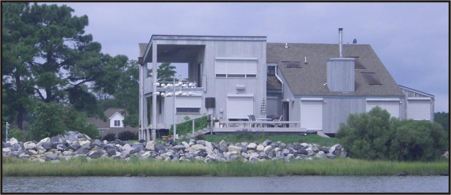 Wormley Creek is mostly residential with many shorelines hardened even though erosion rates are very low (Figure 2-8).
