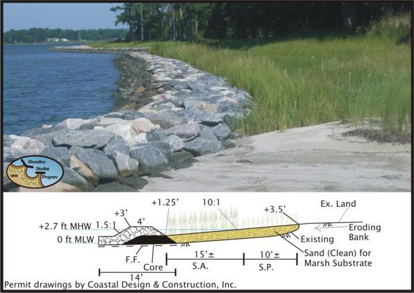 3.4 Structural Design Considerations In medium to high energy settings, suitable structural Living Shoreline management strategies may be required.