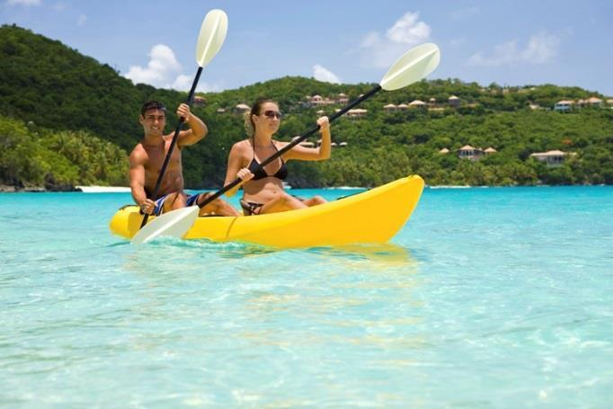 Water sports descriptions All inclusive products Kayaks Come by yourself or with a friend to enjoy one of the most popular all inclusive watersports at the hotel, with our Kayaks