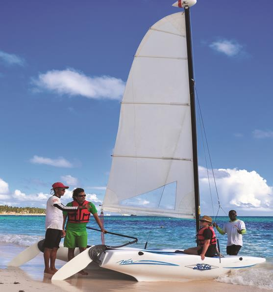Hobie Cat If you have experiences sailing this is the activity for you!