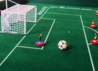 the goalkeeper has been removed from the goal and is kept by the relevant player in one of his hands (or put on the playing board, outside the playing area in order not to hinder the game); and c.
