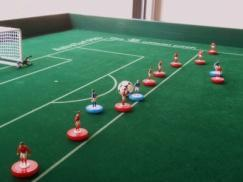 If there are two or more playing figures deemed offside simultaneously the free-flick shall be taken from the playing figure's position nearer to the goal-line (deeper offside). 2.
