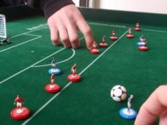 2 nd example 1. Playing figure A1 is in offside position. Player A (attacker) plays the ball with his playing figure A2.