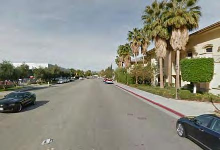 Sidewalks are provided on both sides of street adjacent to Section 14, with the exception of the west side of the street south of Alejo Road and south of Andreas Road.