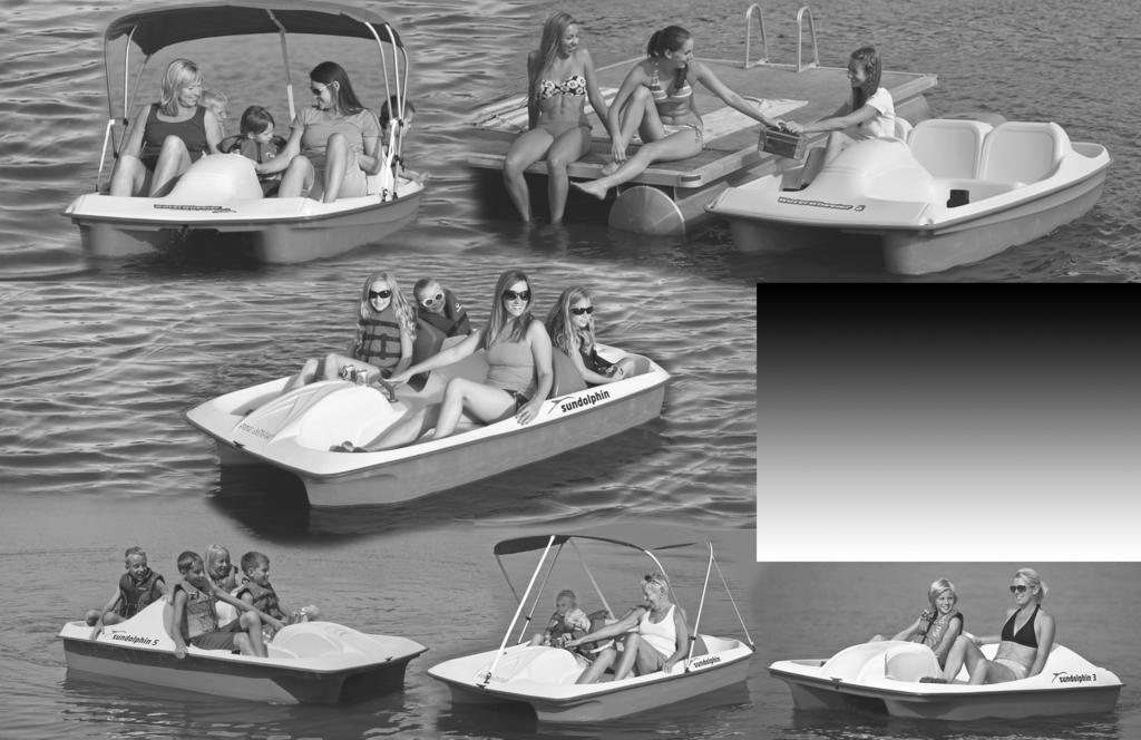 OWNER S MANUAL Pedal Boat Models: Sun Dolphin-all models Water Wheeler 5 & ASL Rev.