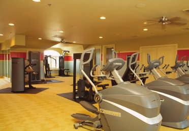 State of the art fitness center with cardio and weight