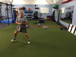 of the body Resisted Walking Lunges