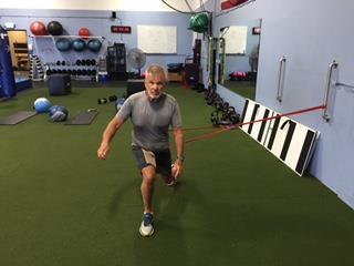 Deceleration Lunges Walk backward,