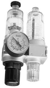 3 0 = without gauge 1 = without gauge 2* = with gauge 3 = with gauge Options for digit No. 4 1 = standard 2 = key lockable The air service unit includes a filter/regulator, and lubricator.