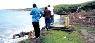 Hard engineering structures, such as this rock revetment at Victoria, Grenada, serve to protect the land, in this case, the coastal highway from erosion; but they do not promote the build-up of sand,