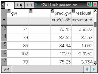 ) Thus the predicted number of games that a team will win in a season is: #wins win% number of games (typically 162 games in a season) The exponent of '2' was later refined by Bill James to 1.