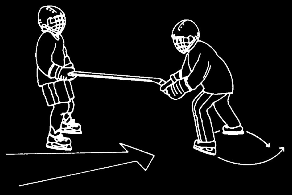 4 minutes Balance and Agility Players are arranged in groups along side boards. Players within each group partner up. a. Hold opposite ends of two hockey sticks, both players facing forward.