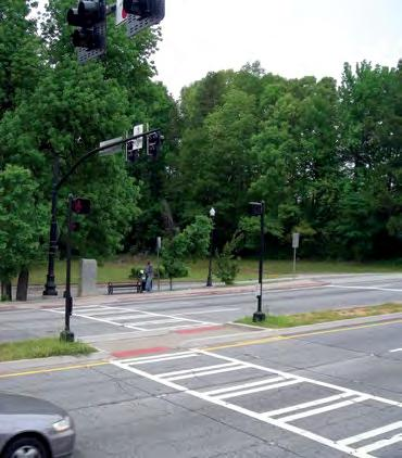 Figure 7. Design In all, four pedestrian hybrid beacons were installed in the Doraville/Chamblee area of Buford Highway. Each was placed near a transit stop.
