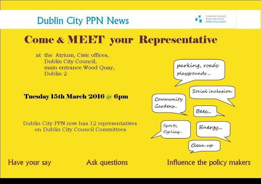 Upcoming Dublin City PPN Events The tasks of the Strategic Policy Committees (SPC) are to assist and advise the council in the formulation, development and review of policy.