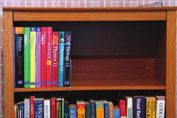 If you place the books nearer the supports ((b) and (c)), the shelf does not sag.
