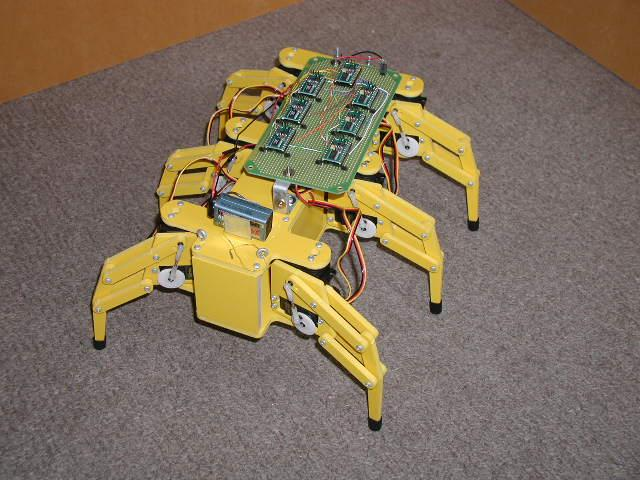 2. THE ROBOT The robot used in this study is the Hexapod II Robot (Figure 1, sold by Lynxmotion, Inc.. The Hexapod II Robot is a six-legged robot with two degrees of freedom per leg.