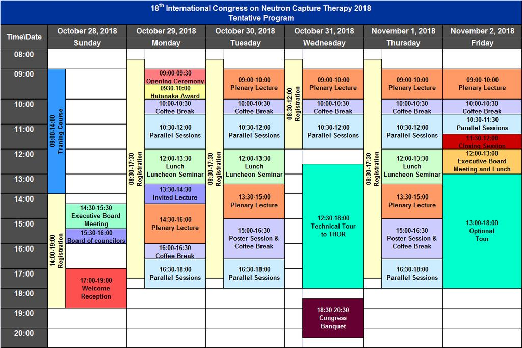 Proposed Tentative Program 18 th International